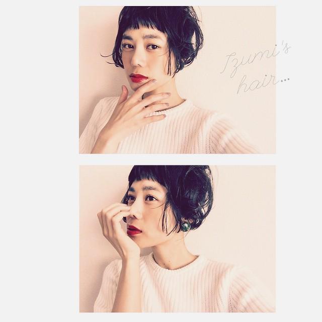 Today's hair & make.#hair #makeup #self #lip #fashion #spring #white  #IZUMIsfashion #izumi