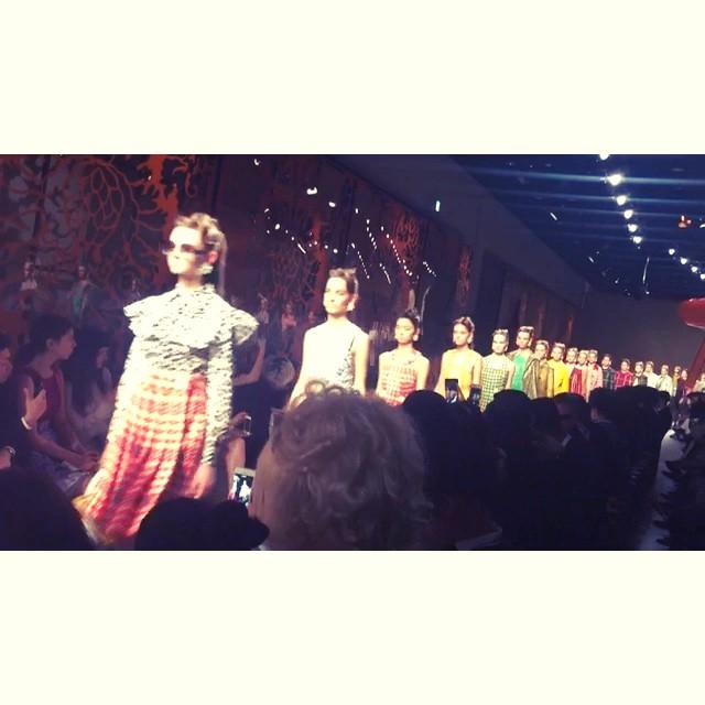 fashion show.可愛かったあ♡♡♡#miumiu #miumiuaoyama #fashion #show #2015fw