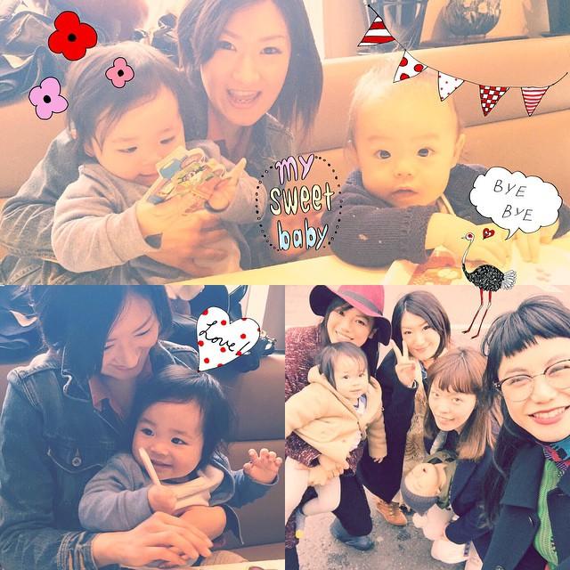 中高の同級生とランチ♡♡♡2人はママに久々に会えて嬉しかった---!