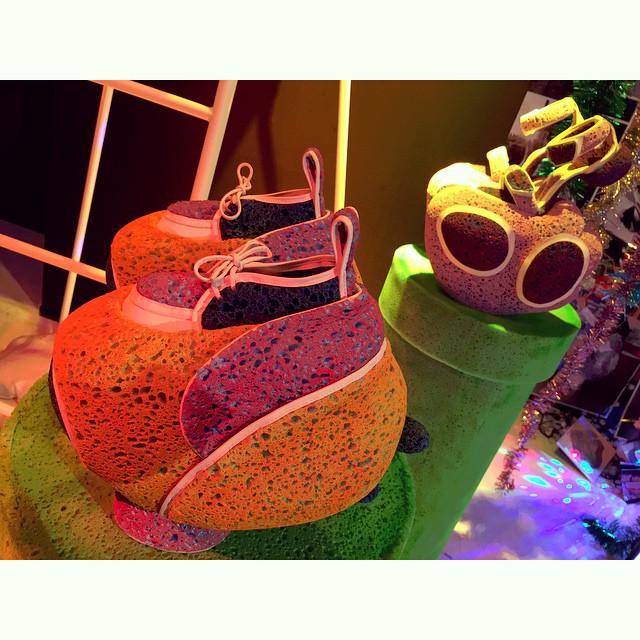 な・なんだこの靴は!!?デザイナーの発想はやっぱりすごいね#渋谷PARCO #fashion #shoes #絶命展 #parco_ss #design