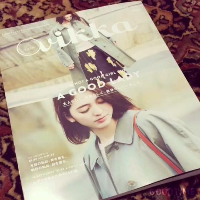 Vikka4月号が発売になりました!とっても素敵な1冊に参加させていただけて幸せ;_;彩菜ちゃんもいるよっぜひ観てね#Vikka #4月号 #model #izumi