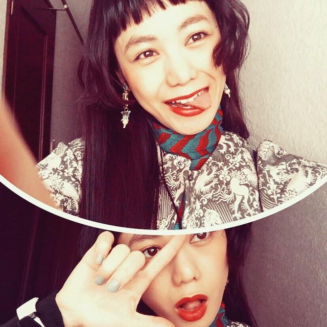今日はお仕事が早く終わったので,これから事務所へ〜太陽が暖かかった〜( ´ ▽ ` )ノ#nail #fashion #izumi #hair #lip #make