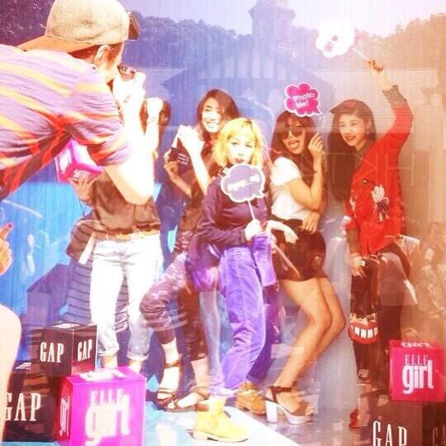 Gap原宿店にてELLEgirl Curatorみんなでイベントしたのが懐かしいなぁ(^ω^)みんなに会いたい!もうすぐ春がやってくる〜〜〜#ELLEgirl #Curator #gap #harajuku