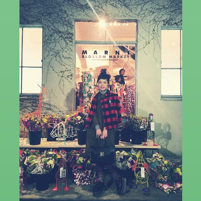 MARNI BLOSSOM MARKET.#marni #marniblossommarket #flower #aoyama #fashion #ootd #outfit #coordinate