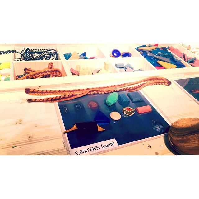 私が一番気に入ったのは,好きなパーツを組み合わせてオリジナルのネックレスが作れちゃうの♡♡♡パーツ1つ¥1500〜#marni #marniblossommarket #fashion #手作り #ネックレス