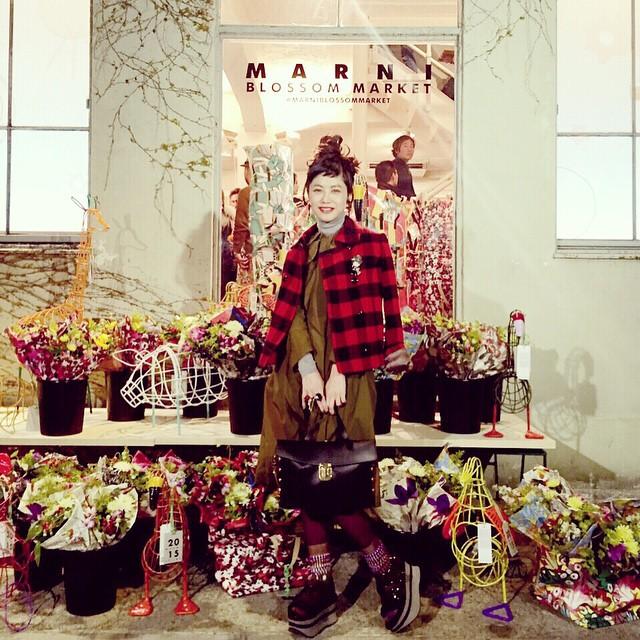 WEARを更新したよ♡さっきみたら,なんとフォロワーさんが20万人突破していたよなんだか想像がつかない数。本当にみんなのおかげ!ありがとうーーー#marni #marniblossommarket #aoyama #fashion #WEAR #coordinate #ootd #outfit #izumi