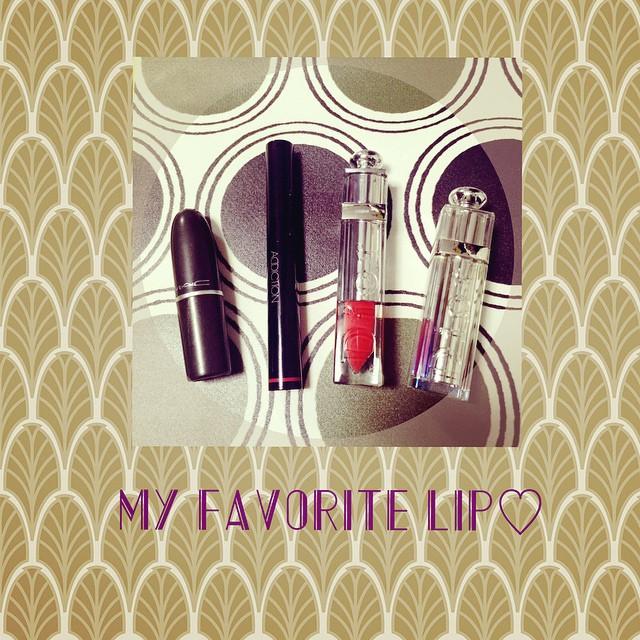 My Red LipMAC A11.ADDICTION Red Lantern 007.Dior FLUID STICK 753.Dior Lip STICK 611.#lip #red #fashion #dior #makeup #mac #addiction