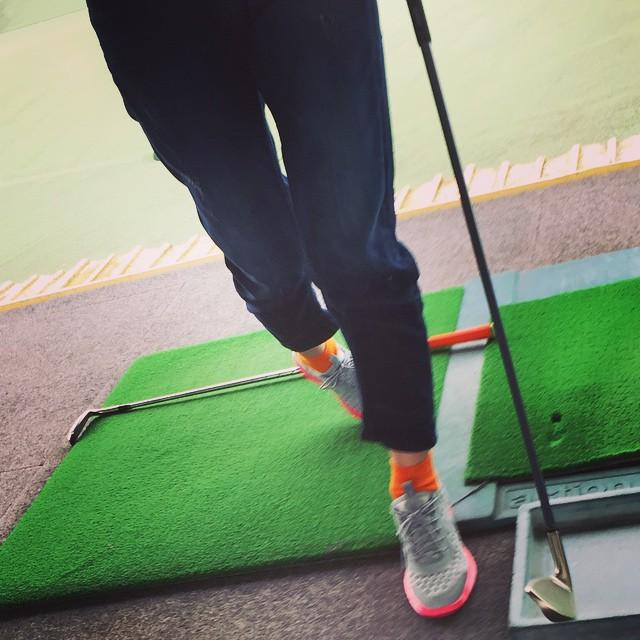 ずっと私をプロゴルファー️にさせるのが夢だった父。全く違う道に進みましたでも今年はコースデビュー目指そう(^O^)/#golf #練習 #nike #sports