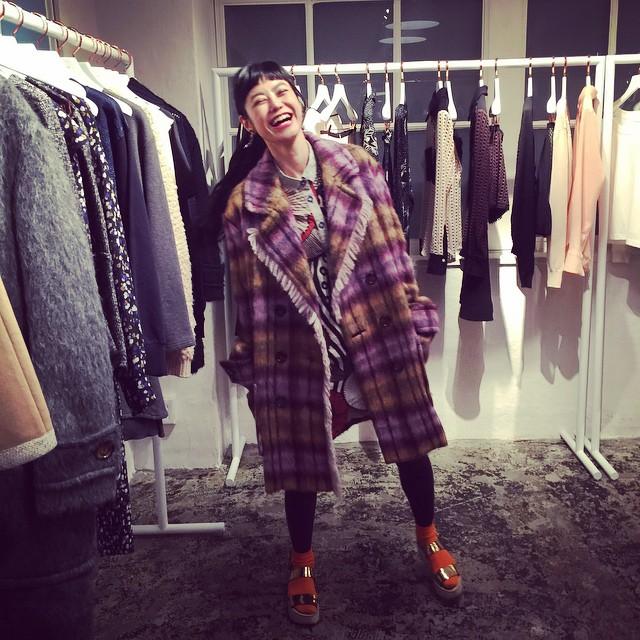 このアウター可愛かったー!#SeeByChloe #fashion #fw #2015 #outer