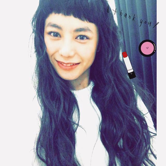 昨日は半年ぶりくらいにヘアメイクをやってもらった@hironasatake さん♡元気な赤ちゃんが産まれますように...#makeup #hair #lip #izumi