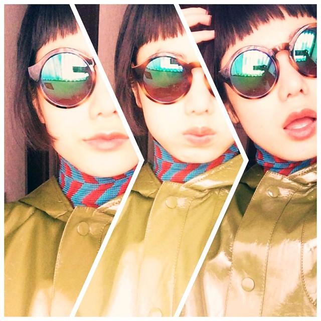 今日はZARAのサングラス♡♡♡#fashion #IZUMIsfashion #ootd #outfit #sungrasses #zara #me #isseymiyake #lip #color
