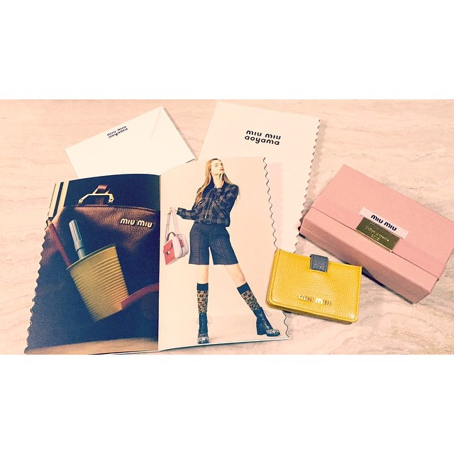 miumiu thank you.#miumiu #miumiuaoyama #fashion #2015fw #fall #winter #yellow #gray