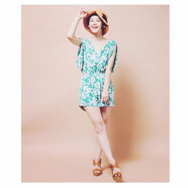 この感じとっても新鮮だったな。もう夏みたいだね〜〜〜#summer #happy #fashion