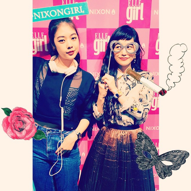 NIXON×ELLEgirl @ harajuku#nixongirl #watch #ELLEgirl