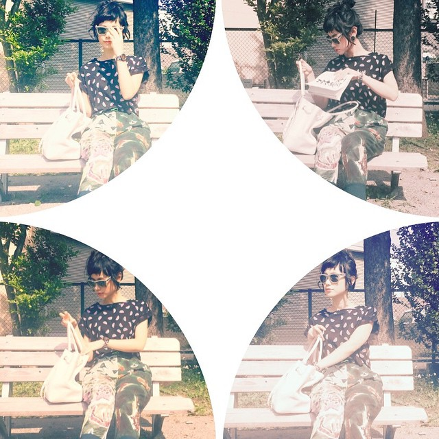 blog更新!ELLEgirl onlineから見てね〜♡ #fashion #coordinate #GUTL #gu #ootd_with @GU_global#alberobello #coach #rayban #ellegirl #summer