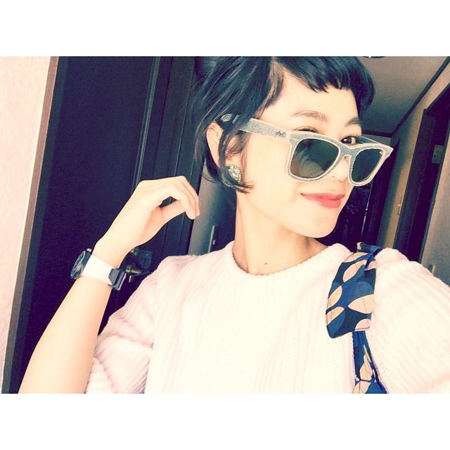最近あったかくていいお天気♡るん♡♡♡#hair #rayban #lip #openingceremony #sungrasses