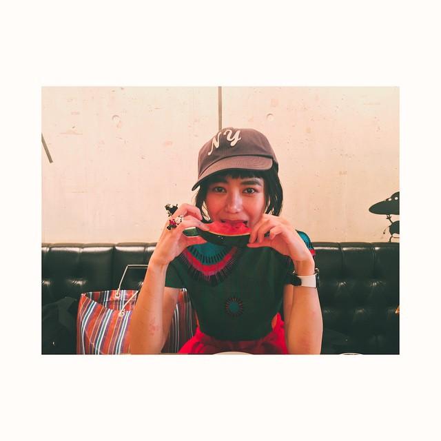 ♡なんか洋服までスイカのよう!笑#スイカ #summer #fashion #izumi
