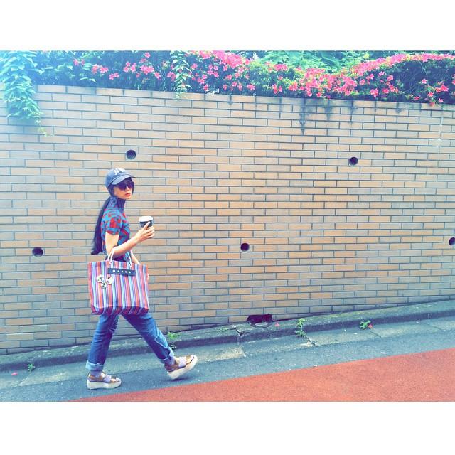 暑い日でもHot️だよ〜♡ #fashion #coordinate #outfit #ootd #zara #marni #alberobello#isseymiyake #me #izumi#tea #drink #sungrasses