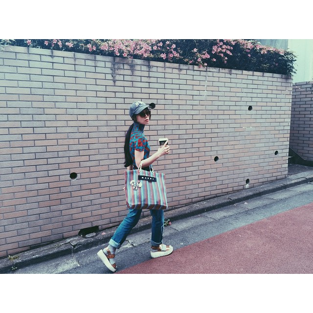 お気に入りショット♡#fashion #coordinate #outfit #ootd #zara #marni #alberobello#isseymiyake #me #izumi#tea #drink #sungrasses