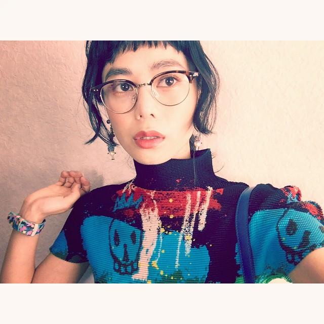 暑いね暑いね〜︎︎︎#fashion #isseymiyake #izumi#watch #NIXON #メガネ #hair