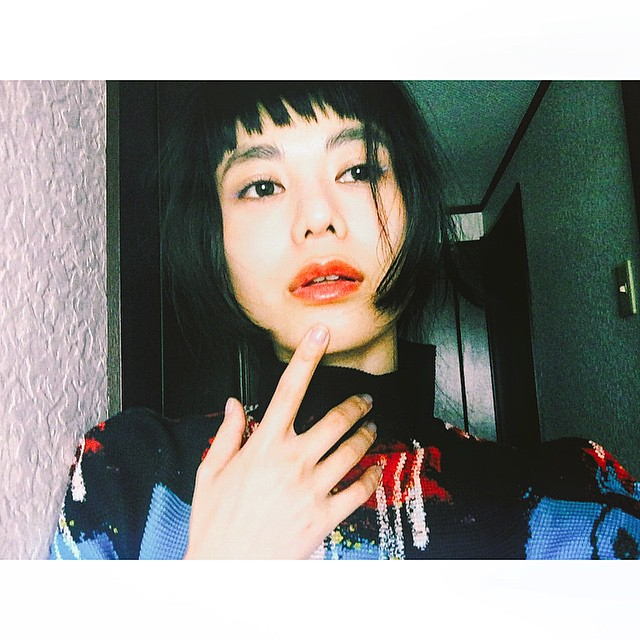 Blue  × Orange.♡ #makeup #make #beauty #lip #blue #Orange #hair #IZUMI