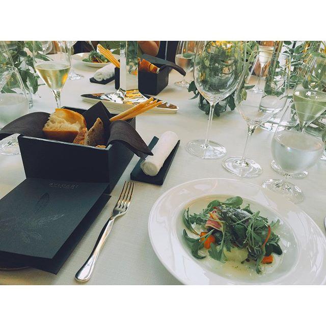 Dinnerはミシュラン星を誇るイタリア人シェフによるお料理上品な空間にただただ信じられない。素敵すぎるよ!! #bulgaribridal #party #Dinner#BVLGARI #Wedding