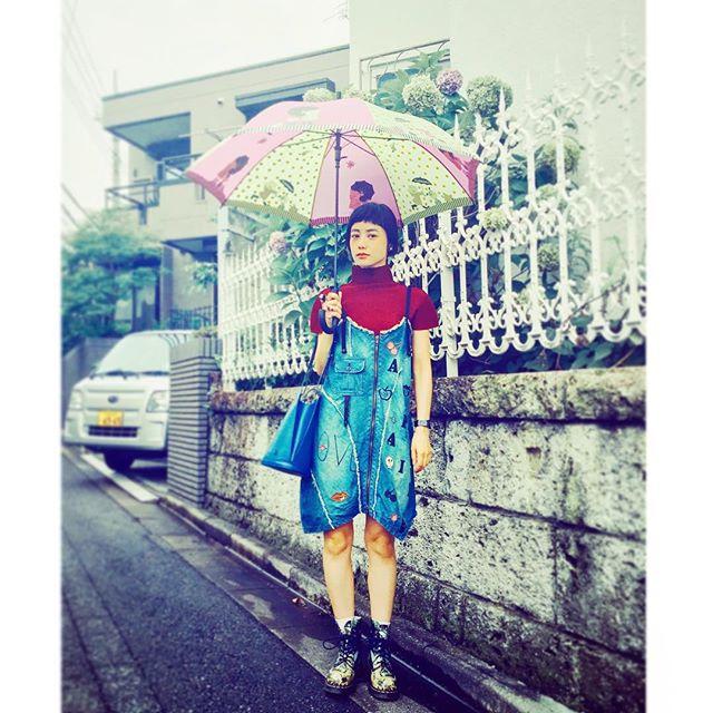 梅雨だね〜️️️#IZUMIsfashion #fashion #ootd #outfit #alberobello #me #rain #denim#coordinate #wear #lv