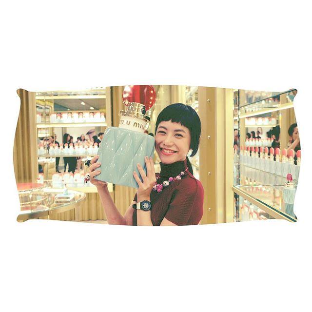 志穂ちゃんが撮ってくれたありがとうー!!!♡ @shiho_takechi #miumiu#MIUMIUPARFUM #ginza #perfume