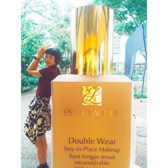 先日、代官山T-SITEガーデンギャラリーで行われたエスティローダーの新作ファンデーション『ダブルウェア』のイベントに遊びに行ってきたよ♡おっきいボトルが可愛い〜♡♡♡ #自信美肌はじめました#エスティローダー#esteelauder_dw_mode