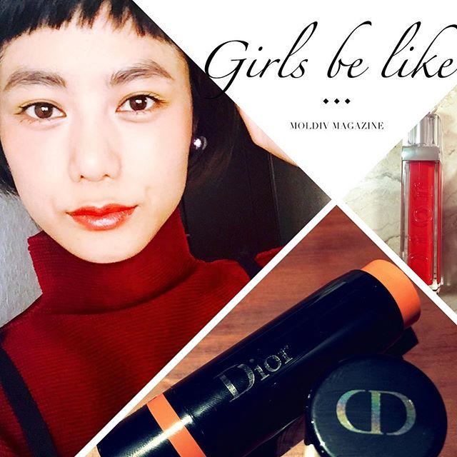 メイクはたのしいなぁ♡♡♡写真だと付いてるのがわかりずらいけど、このチークとってもお気に入り #makeup @dior #dior #lip #チーク#cosme #izumi