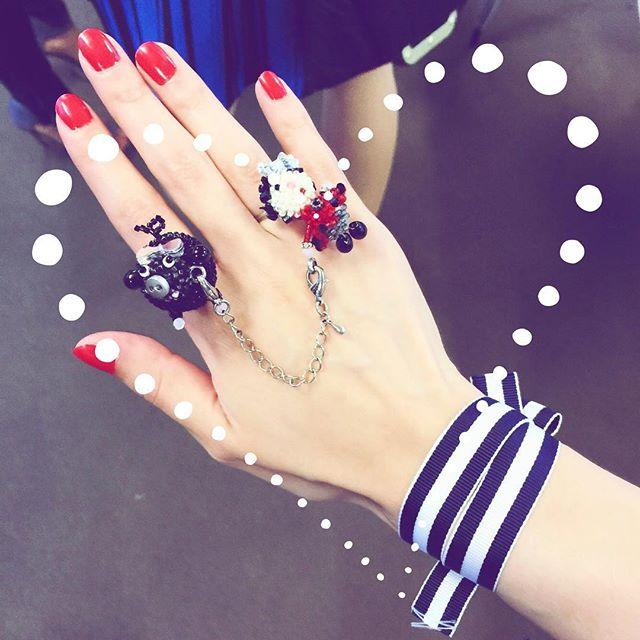 今日の手元♡♡♡#alberobello #ring #nail #red