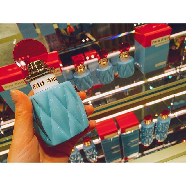 インテリアとして飾りたいくらい、見た目も香りも最高ですエレガントでフローラルの深みのある香り @miumiu #MIUMIUPARFUM #miumiu#perfume #ginza #new
