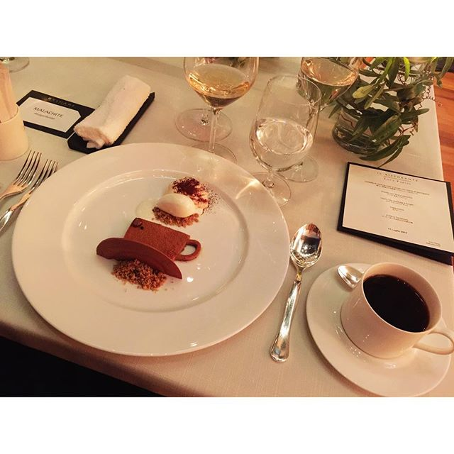 デザートまで可愛すぎる #Dinner #bulgaribridal #BVLGARI #party #Wedding #coffee