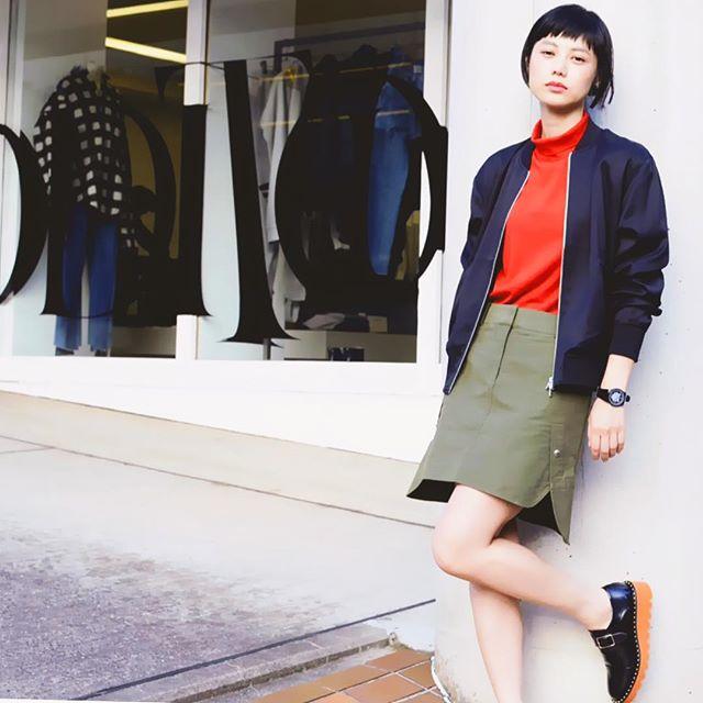Blouson : T by ALEXANDERWANGKnit : GIVENCHYSkirt : ALEXANDERWANGShoes : Stella Mccartney#fashion #coordinate #fw#fall #winter #knit #skirt #shoes#TbyALEXANDERWANG#GIVENCHY#ALEXANDERWANG#StellaMccartney@tada.dairei @additionadelaide