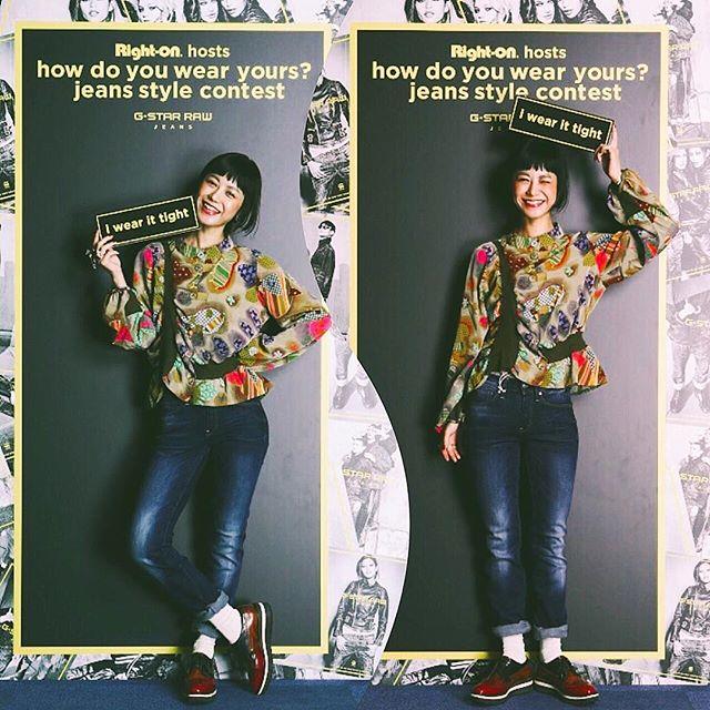 G STAR RAWのdenimは昔から本当に大好き!本当に履きやすくて,シルエットがとっても綺麗に出るんだ!今回は、Right onの店舗でやってるジーンズスタイルコンテストに参加してきた️本当に履きやすいーー #tightorwide_RO#tightorwide_glam  #gstarraw #denim#fashion #coordinate #outfit #snap