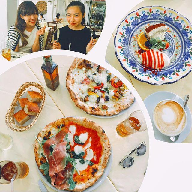 lunchとってもいい時間でした。♡これから映画観る〜️#lunch #pizza #omotesando #Napule