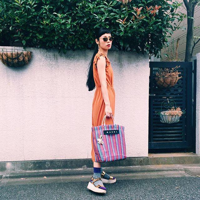 オールインワンは、ZOZOのSALEにてGet.️WEARもUPしたよ( ´ ▽ ` )ノ♡♡♡ #zozotown #sale #fashion#ootd #outfit #coordinate #marni#zara #wear #vibgyor #summer #fall