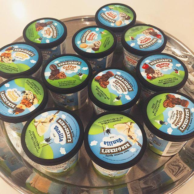 ただいまELLEgirl 11月号の撮影中だよ( ´ ▽ ` )ノ プレスルームでいただいたBEN & JERRY'Sのアイス♡初めて食べた〜ゴロゴロ入ってて美味しかったよ〜️♡♡♡ #ELLEgirl #shooting#icecream #happy #Thankyou
