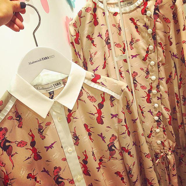 マドモアゼル タラ × 仏イラストレーターのFafi(ファフィ)の限定コラボアイテムのシャツがめちゃめちゃタイプだった #新宿伊勢丹#期間限定shop#mademoiselletara#m_tara#ellegirl