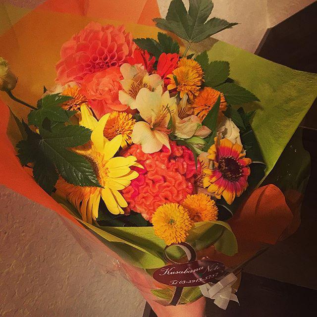 可愛いお花♡ #thankyou#flower#cm#shooting
