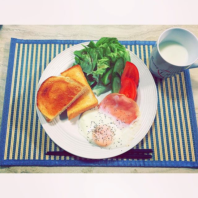 Good morning.︎︎︎#breakfast#home#cooking