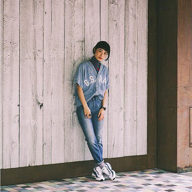 昔から愛用しているG-STAR RAWのNew denimでコーディネート♡EYESCREAM.JPにスナップも掲載されました〜!@gstarrawjapan アカウントでは、なんとアイテムがGet出来るキャンペーンもやってるみたいだよ( ´ ▽ ` )ノ #gstarrawjapan #denim#snap#fashion#coordinate