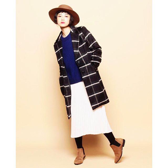 やっぱり秋冬のファッションがすき♡♡ #fashion#fw#outer#knit#skirt#coordinate #hat