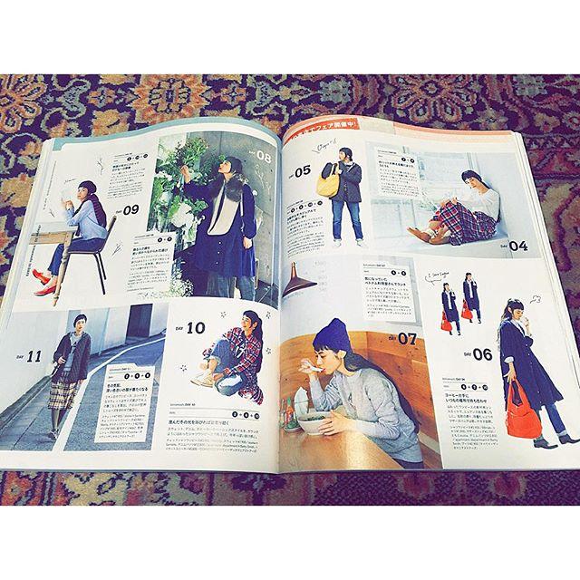 とっっっても可愛いページにしていただいて感激@liniere_tkj @ezakkamania_stores #リンネル#12月号 #fashion#fw#着まわし#coordinate#ナチュラル