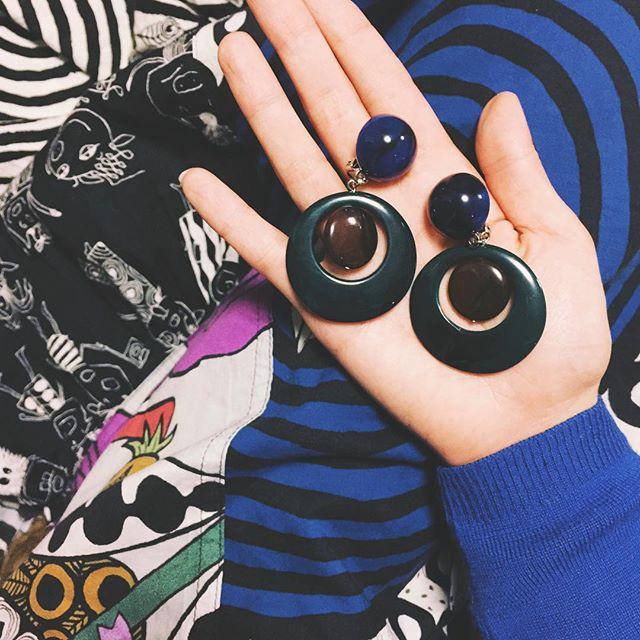 大振りなイヤリングを探してて、先日@sly_official でGetしたイヤリング#fashion#sly#earring #LUMINE
