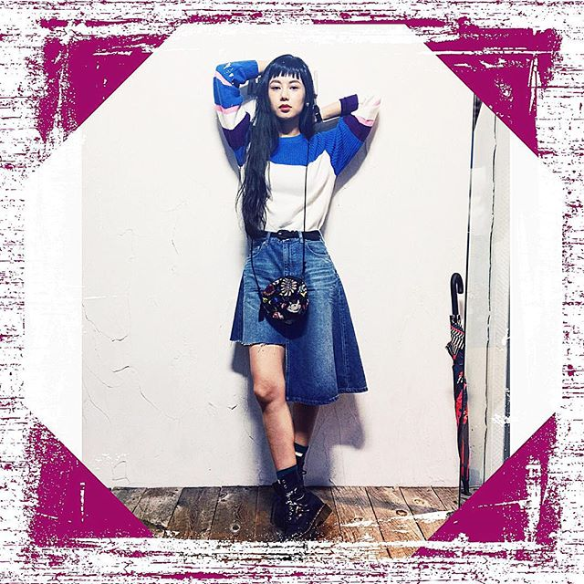 WEAR更新したよ( ´ ▽ ` )ノ♡SALEでGetしたG.V.G.Vのニットお気に入り#wear更新 #IZUMIsfashion #fashion#coordinate#outfit #drmartens #gvgv#knit#alberobello