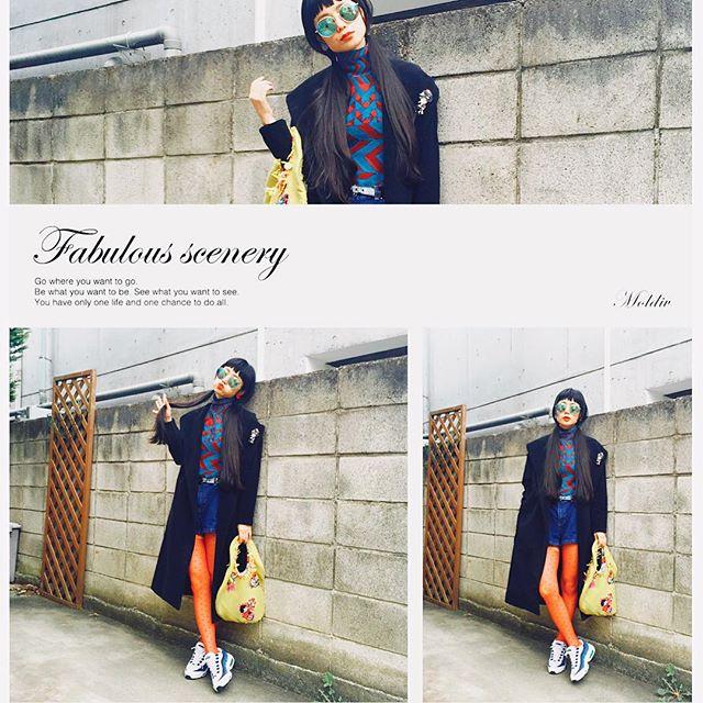 そろそろアウターの季節がやってくるね️♡嬉しいな〜これはGUのガウンコートに、alberobelloのブローチを付けたよ️♡️ #ootd_WITH @GU_global#GU_PR#GUTL#IZUMIsfashion #GU#ootd#outfit #nike#zara#alberobello#FouFouiLLE #hm#denim #wear
