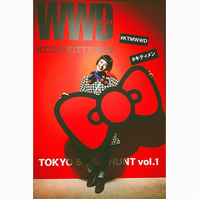WWD ×HELLO KITTY MEN スペシャルコラボレーション イベントへ!でっかいリボンが可愛すぎる #キティメン#KTMWWD#fashion#wwd#HELLOKITTYMEN