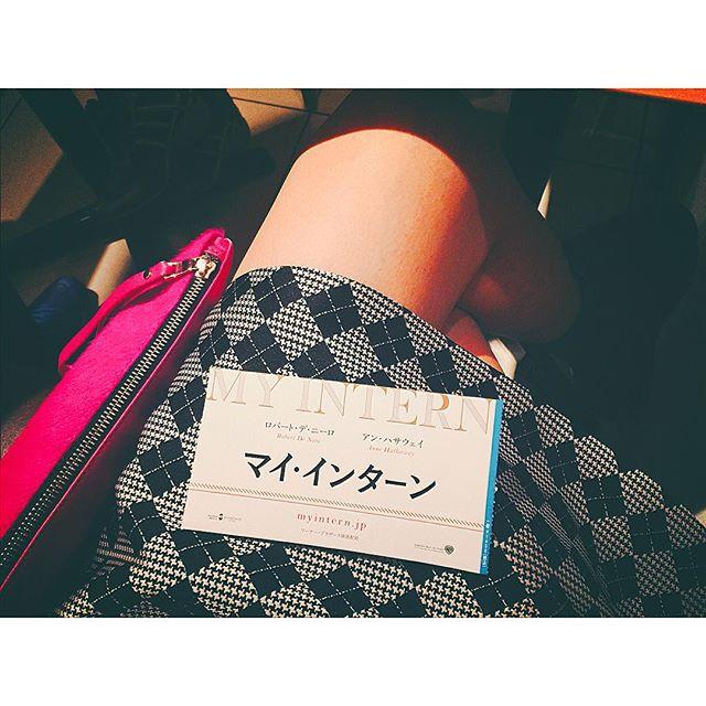 ささ、これから観る〜♡♡♡やっとだ #movie#マイインターン#fashion#mademoiselleTARA #zara