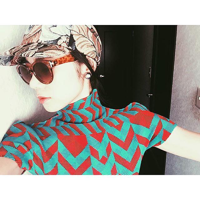 久々に被ったCA4LAのCAP.♡今年もたくさん被ろう #cap#fashion#ca4la#me#sungrasses#coordinate